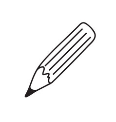 The black pencil icon vector