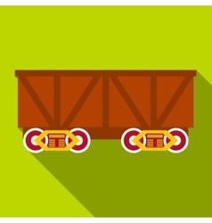 Train cargo wagon icon flat style vector