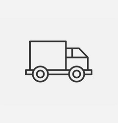 truck toy icon on white background line style vector image