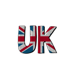 uk word flag vector image