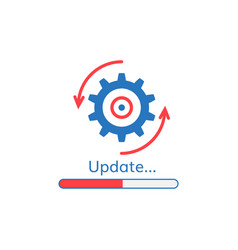 Update application progress icon vector