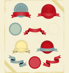 vintage ribbons and banners series vector image