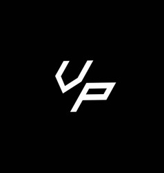 Vp logo monogram with up to down style modern vector