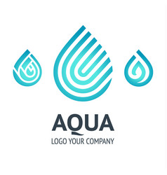 Water drop symbol blue logo template icon vector