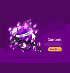 Web content page vector