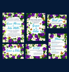 wedding save the date invitation cards vector image