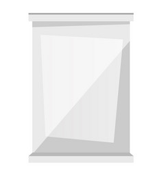white window frame cartoon vector image
