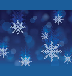 winter snowflake christmas abstract wallpaper vector image