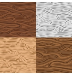 Wooden seamless backgrounds set vector