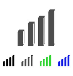 3d bar chart flat icon vector image vector image