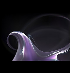 abstract purple smoke wave vector image vector image