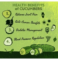 Cucambers Health Benefits 01 A vector image