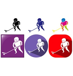 Hockey icon in three designs vector image vector image