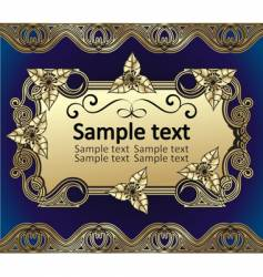 background from beautiful gold pattern vector image vector image
