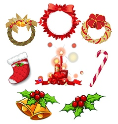Christmas decors vector image vector image
