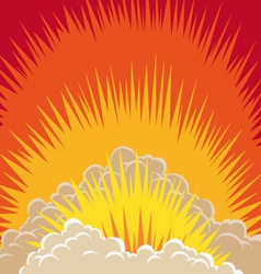 Explosion clouds vector image vector image