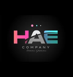 hae h a e three letter logo icon design vector image vector image