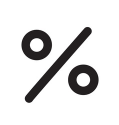 percent icon on white background percent sign vector image vector image