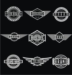 Vintage Badge Labels vector image vector image