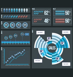 8 Business Infographic Elements vector image