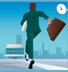 businessman go to work in business center vector image