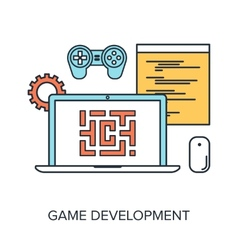 Game Development vector image vector image