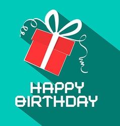 Happy Birthday Retro with Gift Box vector image vector image