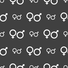 male and female icon sign Seamless pattern on a vector image