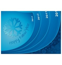 New Year 2013 in the way vector image