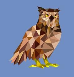 Owl low polygon vector image