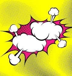 Pop art bubble collision abstract retro background vector image vector image