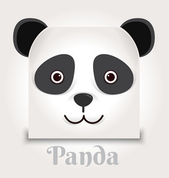 simple sign a panda - design template on black vector image