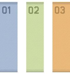 Vertical ribbons vector image