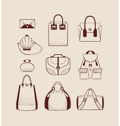 woman bags for day and evening vector image vector image