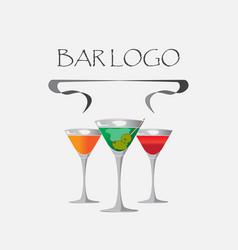 bar logo white vector image vector image