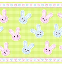 bunnies pattern vector image vector image