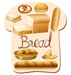 Different kind of bread vector image vector image