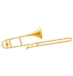 Golden trumbone on white background vector image vector image