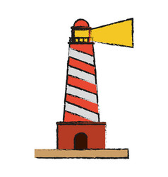 lighthouse beach symbol vector image
