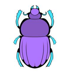 scarab icon cartoon vector image vector image