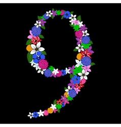 9 numeral vector