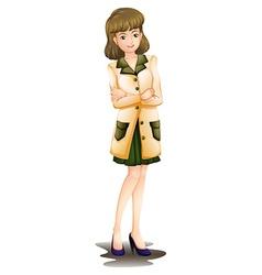 A confident woman vector image