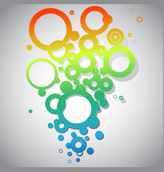 abstract black and white circles vector image