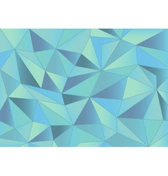 Abstract light blue triangles 3d background vector image