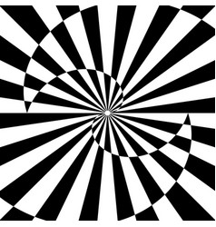 Abstract op art design vector