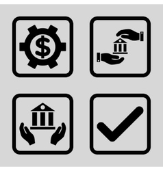 Banking Service Flat Squared Icon vector image