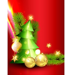 beautiful christmas design vector image