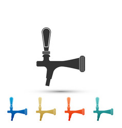 beer tap icon isolated on white background vector image