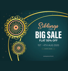 big sale raksha bandhan vector image
