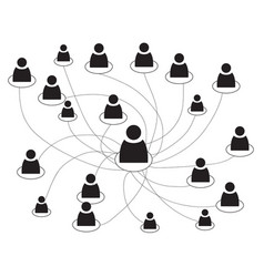 business people scheme vector image